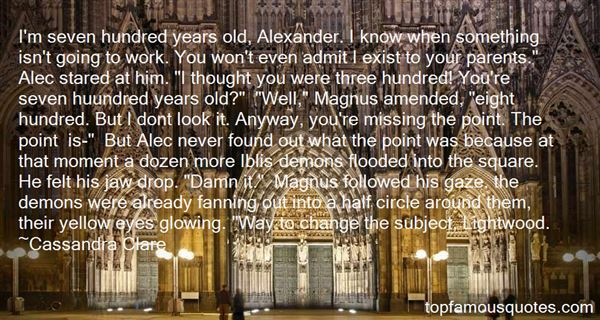 Quotes About Alec Lightwood