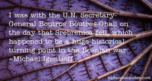 Quotes About Bosnian War