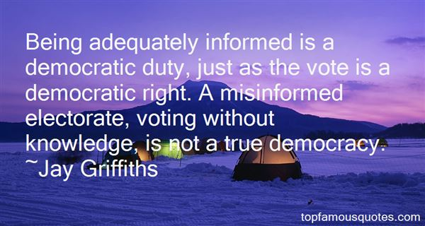 Quotes About Informed Voting