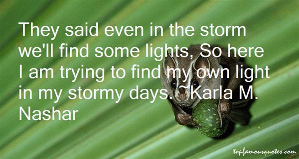 Quotes About Stormy Days