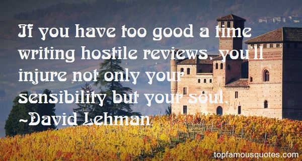 Quotes About Writing Reviews