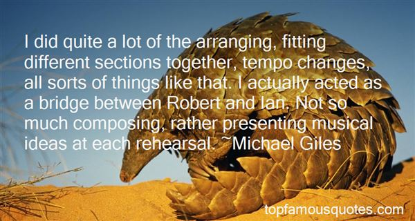 Quotes About Arranging
