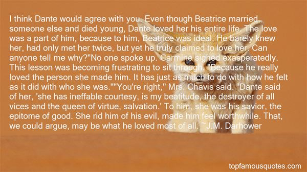 Quotes About Beatrice Dante
