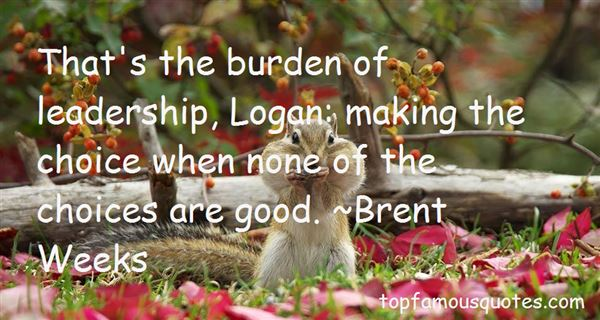 Quotes About Burden Of Leadership