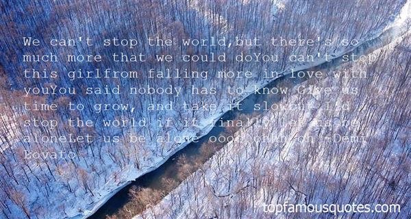 Quotes About Falling In Love Alone
