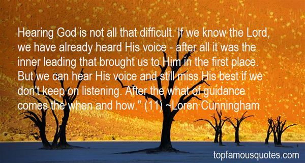 Quotes About Hearing His Voice