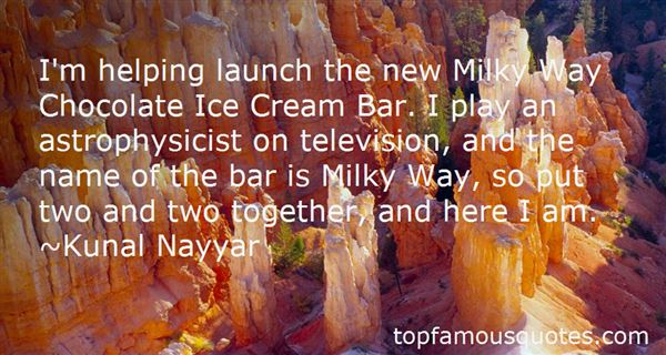 Quotes About Milky Way Chocolate