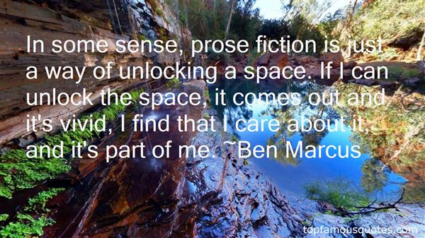 Quotes About Prose Fiction