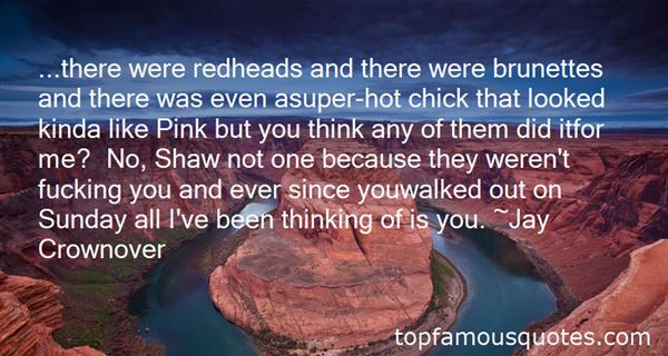 Quotes About Redheads And Brunettes