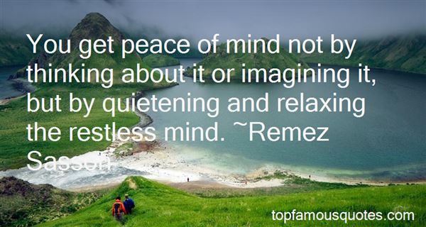 Quotes About Relaxing The Mind