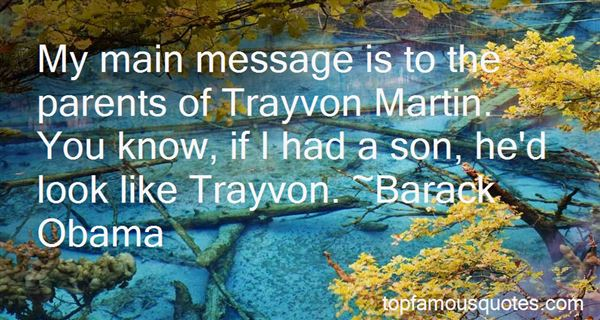Quotes About Trayvon