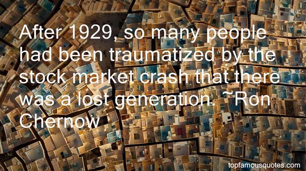 Quotes About 1929 Stock Market Crash