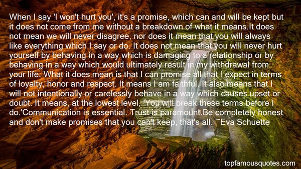 Quotes About Break Up Promises