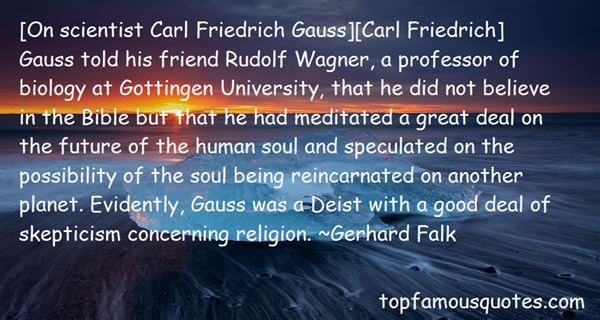 Quotes About Carl Friedrich Gauss