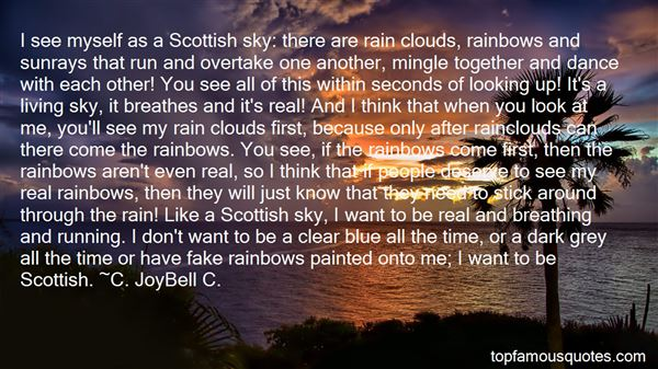 Quotes About Clouds And Rainbow
