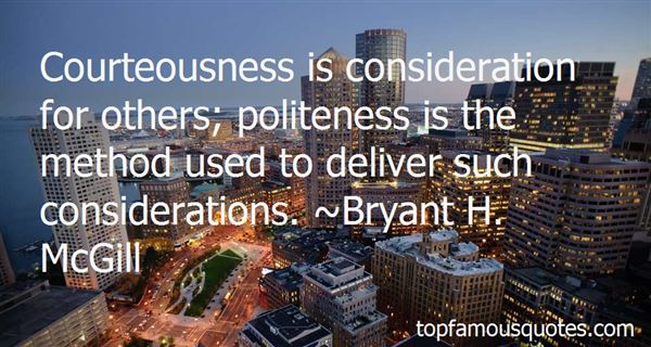 Quotes About Courteousness