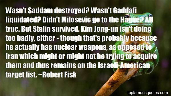 Quotes About Gaddafi
