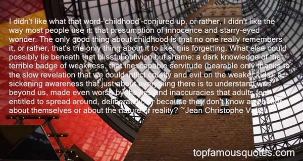 Quotes About Innocence And Evil