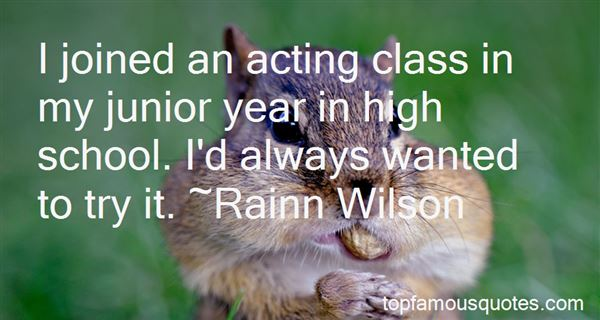 Quotes About Junior Year In High School