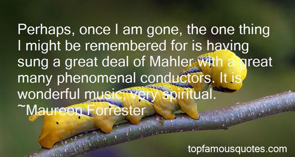 Quotes About Mahler