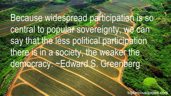 Quotes About Participation In Democracy