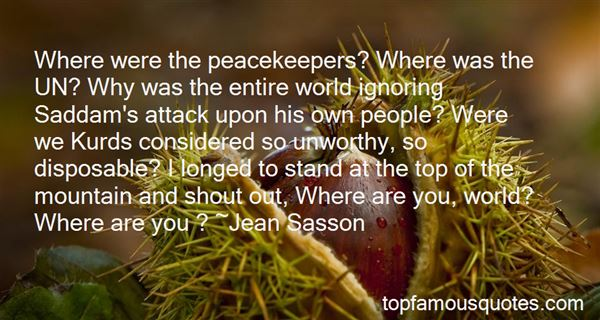 Quotes About Peacekeepers