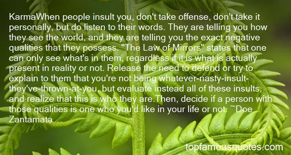 Quotes About Personal Insults