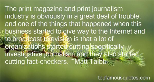 Quotes About Print Journalism