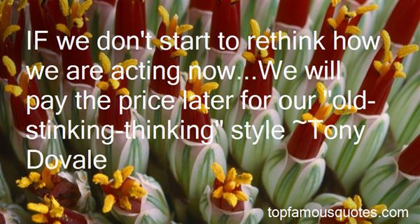 Quotes About Stinking Thinking