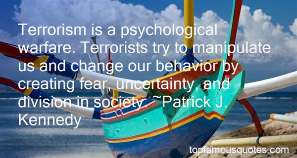 Quotes About Terrorism And Fear