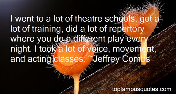 Quotes About Theatre And Acting