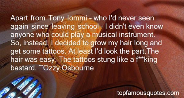 Quotes About Tony Iommi