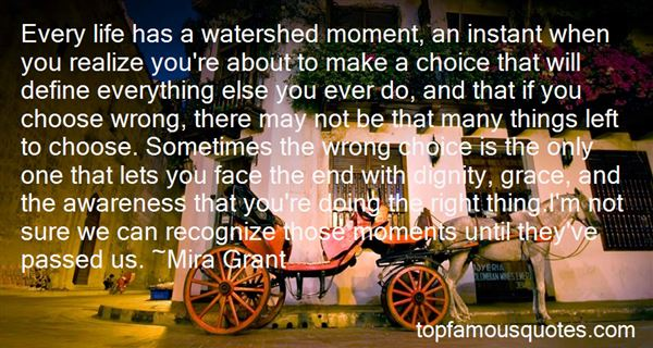Quotes About Watershed Moments