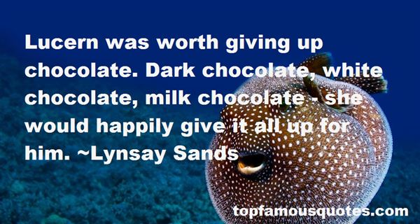 Quotes About Dark Chocolate