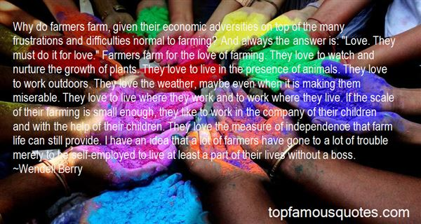 Quotes About Farming And Love