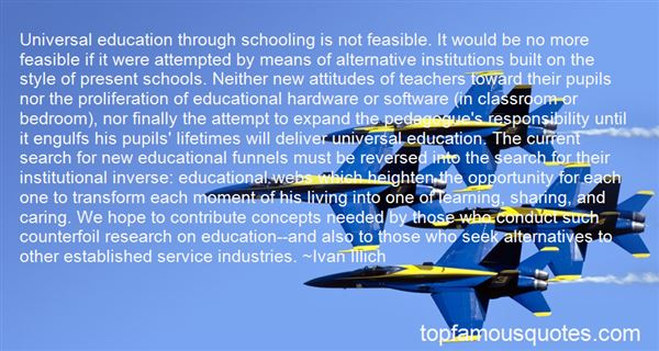 Quotes About Institutional Education