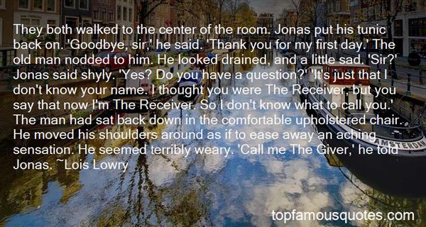 Quotes About Jonas The Giver