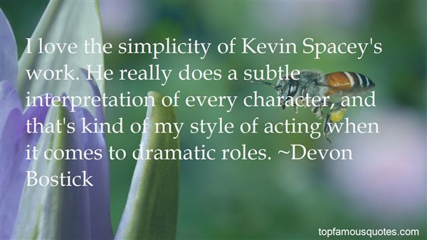 Quotes About Kevin Spacey