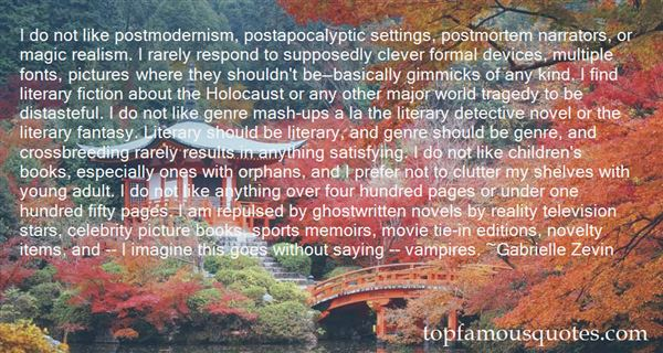 Quotes About Literary Genre