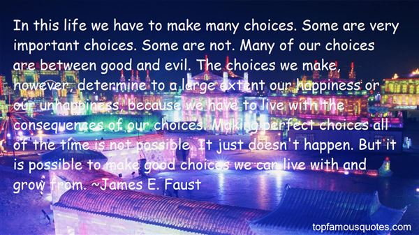 Quotes About Making Good Choices
