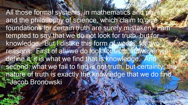 Quotes About Mathematics And Truth