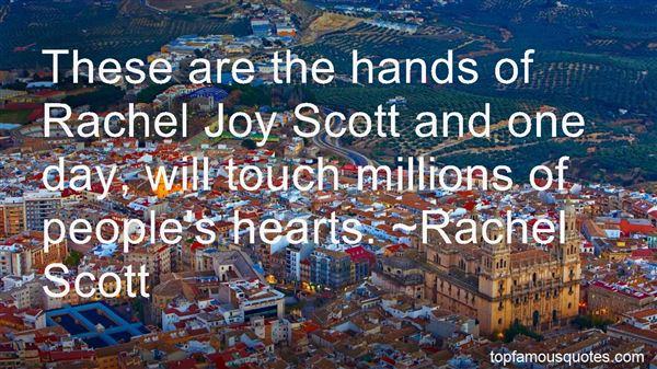 Quotes About Rachel Scott