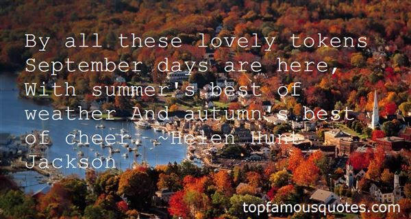 Quotes About September Weather