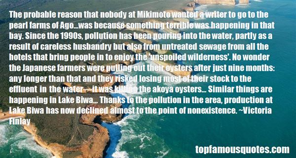 Quotes About Sewage Water