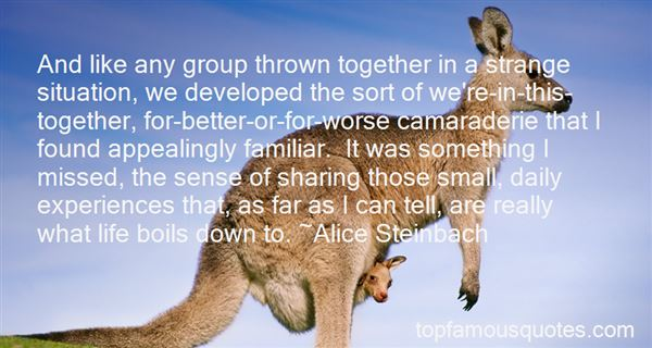 Quotes About Sharing Experiences