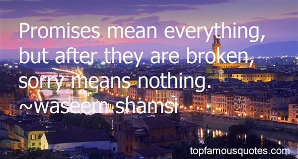 Quotes About Sorry Means Nothing
