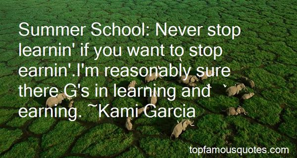 Quotes About Summer Learning
