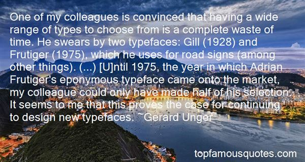 Quotes About Typefaces