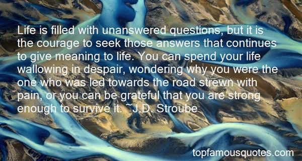 Quotes About Unanswered Questions In Life