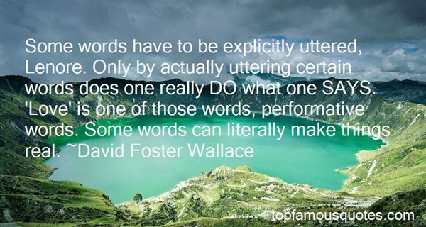 Quotes About Uttering Words